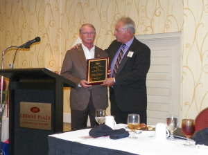 Sheriff John Rutherford, Elected Official of the Year with Tim Petty