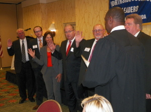 Judge Ruth swearing in the Officers