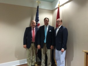 President, Greg Tison, Senator Bean, & 1st VP, Patrick Bennett