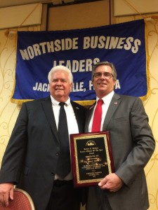 Past President, Glenn Fowler with Councilman Al Ferraro, District 2